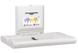 Wall mounted changing table - Anti bacterial material