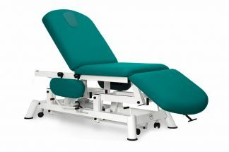 Hydraulic examination chair - 3 sections with armrests and wheels - TwinPillar-lift