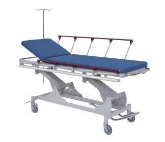 Hydraulic Trolley with side rails - Adjustable height - 210x66 cm