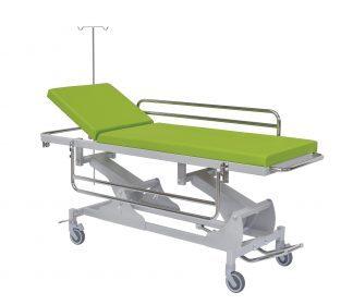 Hydraulic Trolley with side rails - Adjustable - 210x66 cm