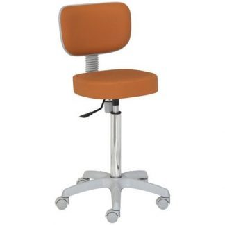 Chair with backrest - PVC base - Height: 62-87 cm