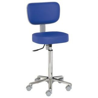 Chair with backrest - Aluminium base - Height: 62-87 cm