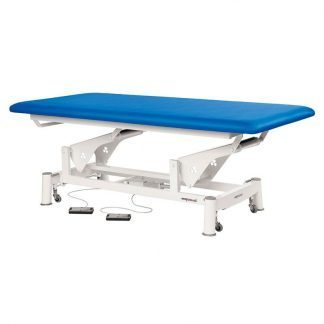 Electric treatment table - Extra wide - 1 section - Wheels