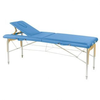 Foldable massage table - Aluminium - 2 sections - 182x70 cm - Back support