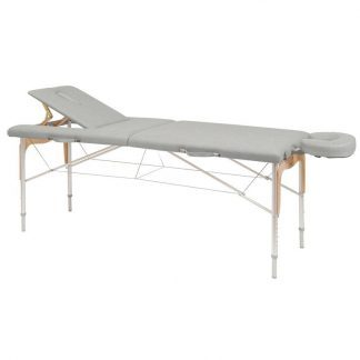 Foldable massage table (aluminium) - 2 sections - 182x70cm - Back/face support