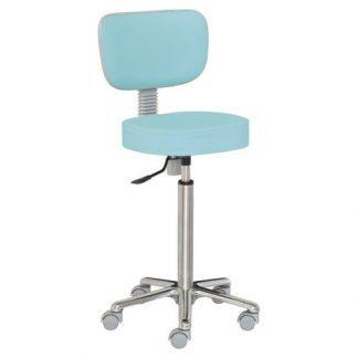 Chair with backrest - Aluminium base - Height: 66-89 cm