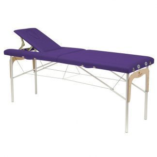 Foldable massage table (Aluminium) - 2 sections - 182x62 cm - Fixed height
