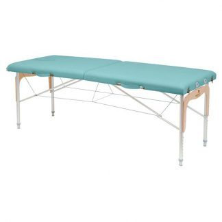 Foldable massage table (Alu) - 2 sections - 182x70 cm - Adjustable height
