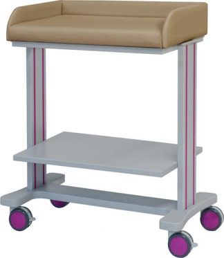 Changing table with wheels