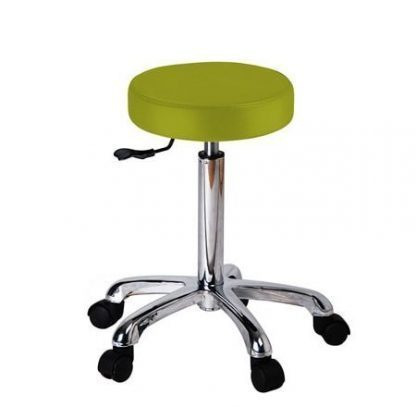 Round stool with wheels - Flat surface