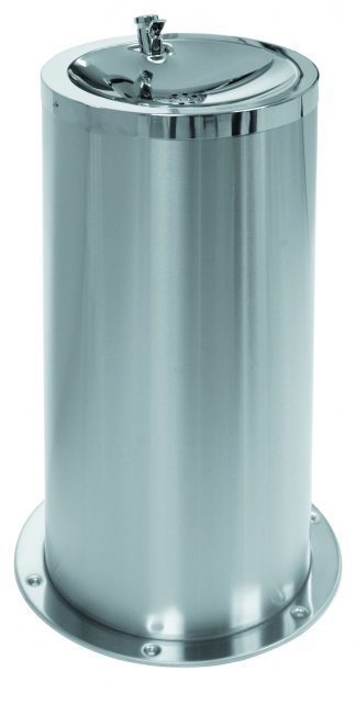 Floor mounted drinking-fountain made out of stainless steel (AISI 304)
