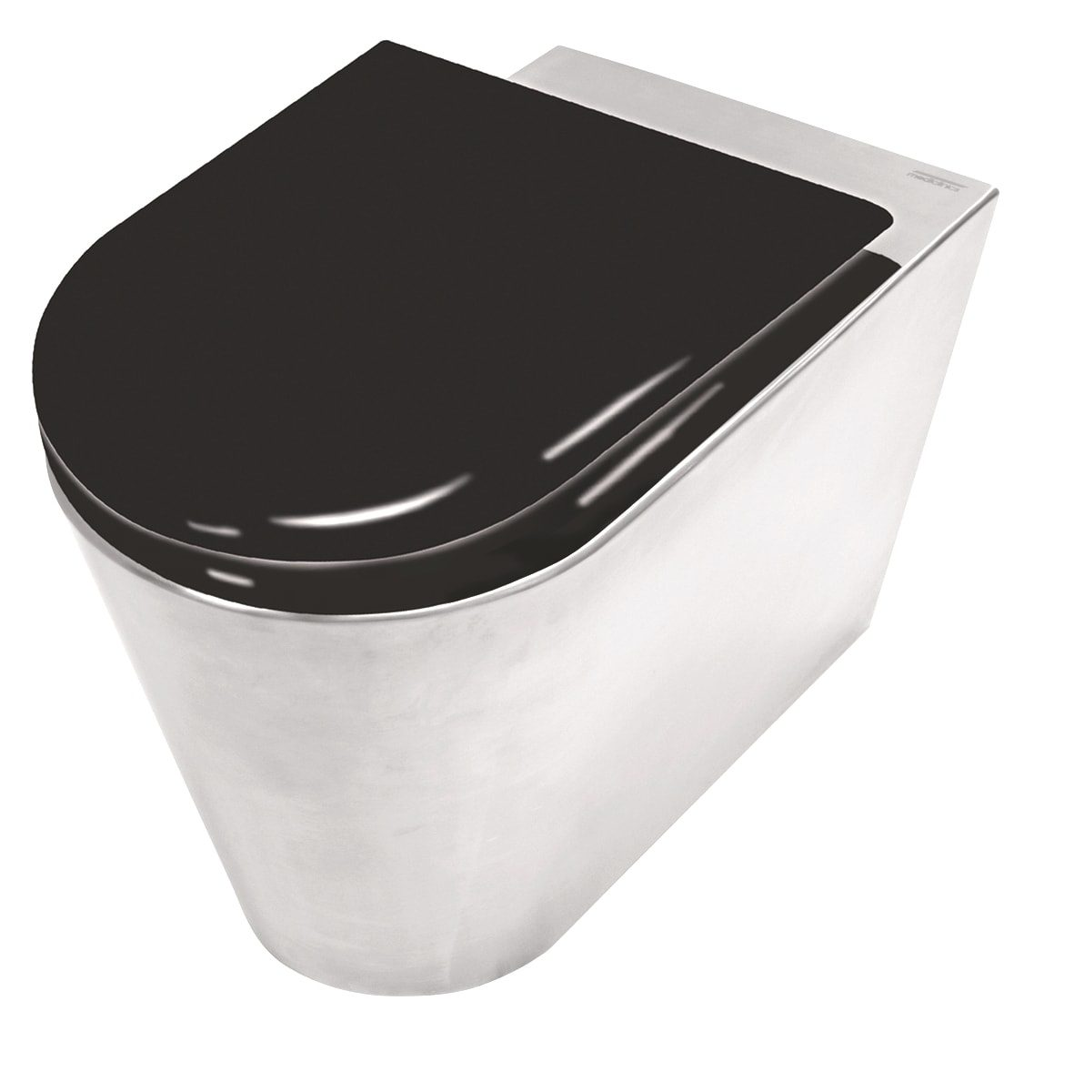 Cool Stainless Steel Toilet With Toilet Seat In Black Painted Wood Camellatalisay Diy Chair Ideas Camellatalisaycom