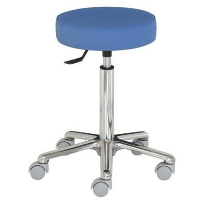 Round chair with aluminium base - Extra tall