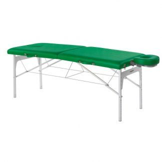 Foldable massage table (Alu) - 2 sections - 182x70cm - Adjustable - Face rest