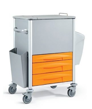 Trolley made out of metal - Ideal for documents and storage - 78x60x117H cm