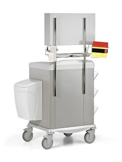 Medicine trolley – Equipped for medicating - Steel frame - 72 cm wide
