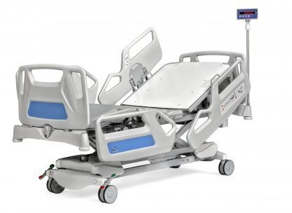 Multifunctional hospital bed with scale