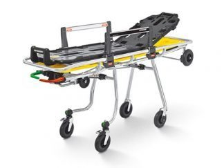 Compact self loading stretcher