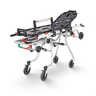Roll-in trolley with stretcher