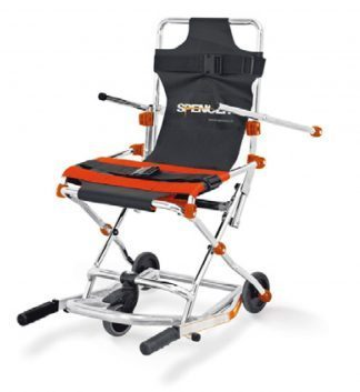 Evacuation chair with 3 wheels for transport - Compact and foldable