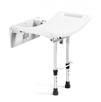 Wall shower bench with legs - Attached to the wall