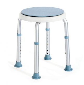 Round shower chair with rotating seat