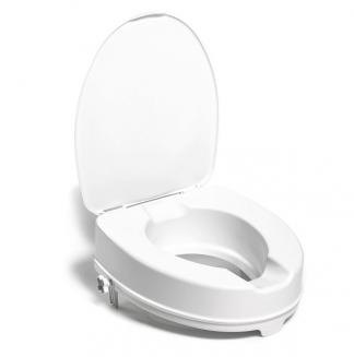 Toilet seat raiser with lid - 10 cm