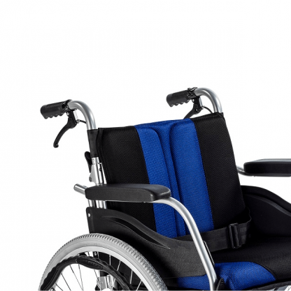 Foldable wheelchair with Aluminum frame - customised for indoor and outdoor use