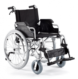 Foldable wheelchair made out of aluminium