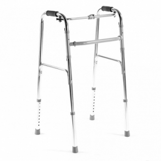 Foldable walking frame with side joint construction