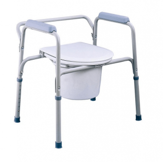 Fixed commode chair