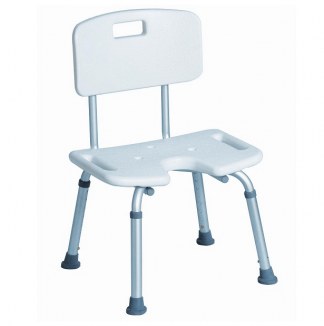 Shower seat with backrest and armrest - U-shaped seating area