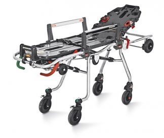 Self loading stretcher with twist system