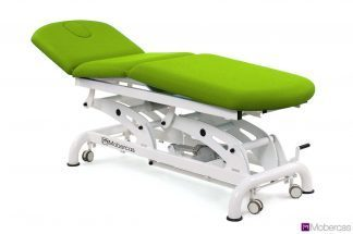 Electric osteopathic treatment bed - 3 sections with 3 motors - Wheels