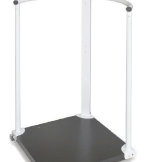 Scale with hand rails and wheels - Class III - BMI function - Max 300 kg