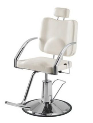 Rotatable make up chair with chromed frame