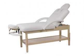 Stationary spa bed – 2 sections with wooden base - Adjustable height