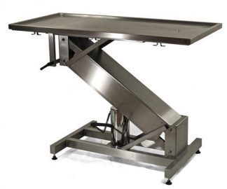 Hydraulic surgery table with stainless steel Z structure and flat top