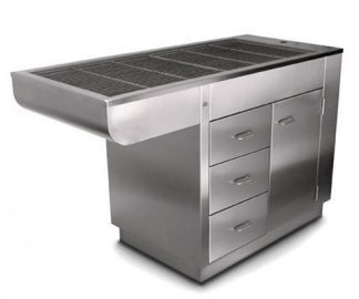 Manchester stainless steel tub with 1 door and 3 drawers