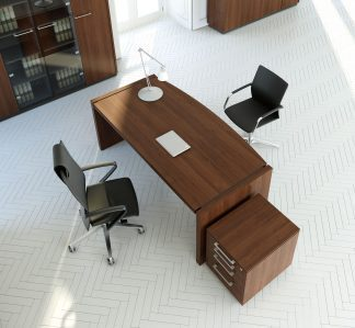 STATUS - Desktop, conference table and storage units