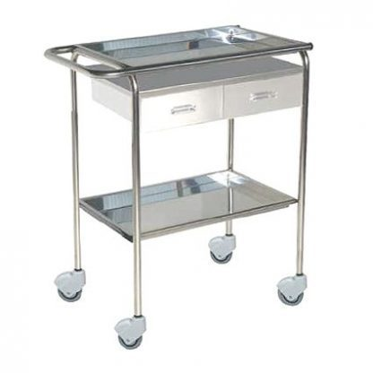 Sampling trolley with two drawers - 71x45x80 cm